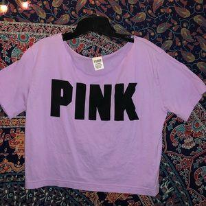 Purple Crop Top from Pink Victoria Secret